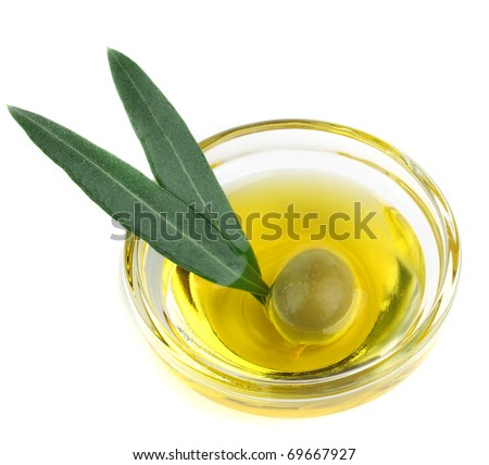 olive oil bottle - stock photo