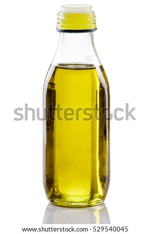 Olive oil bottle isolated on white backgroud