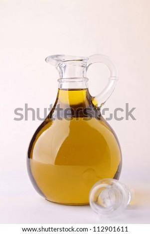olive oil carafe - stock photo