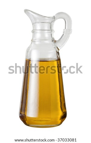 Olive Oil Cruet isolated on a white background