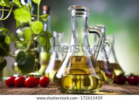 Olive Oil, Extra Virgin - stock photo