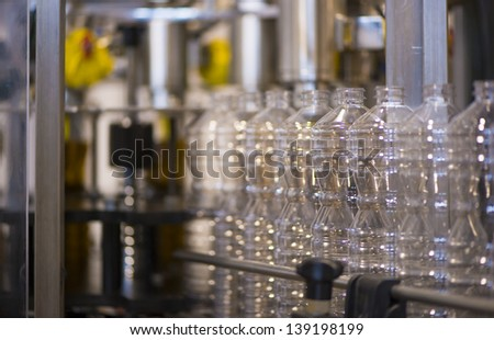 Olive oil factory, Olive Production. Food automation - stock photo