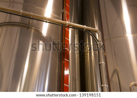 Olive oil factory, Olive Production, tank - stock photo