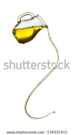 Olive oil isolated on white background - stock photo