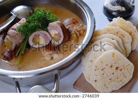 Olive with dumpling - stock photo