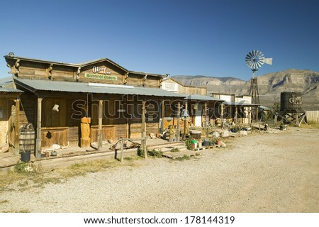 Oliver Lee General Store in Oliver Lee Memorial State Park near Three Rivers National Petroglyph site, New Mexico
