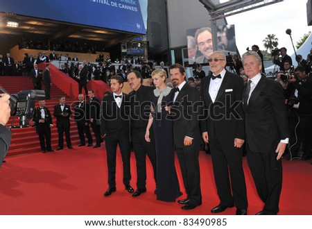 "Oliver Stone, Michael Douglas, Carey Mulligan, Shia LeBeouf, Josh Brolin & Frank Langella at the ""Wall Street: Money Never Sleeps"" at the 63rd Festival de Cannes. 5-14-10 Cannes, France By: Paul Smith"
