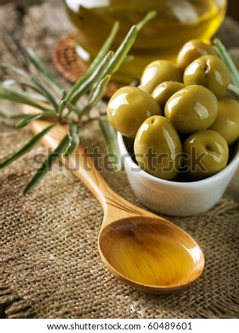 Olives and Virgin Olive Oil - stock photo