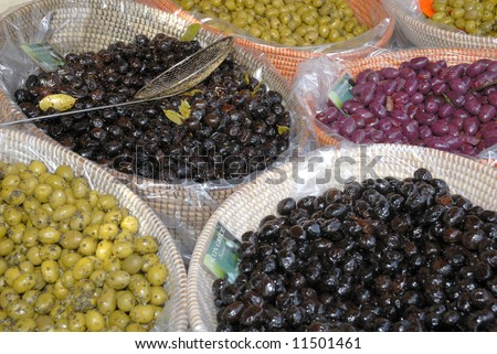 Olives at farmers market