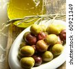 olives oil - stock photo