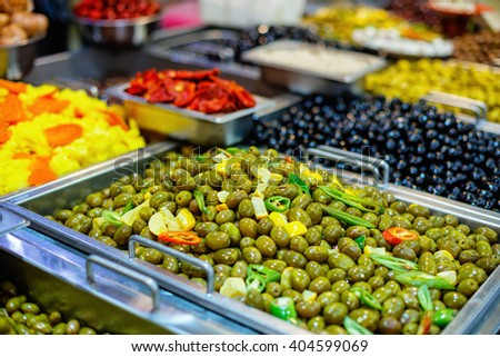 Olives on market
