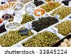 olives, street market in Salles-sur-Verdon, Provence, France - stock photo