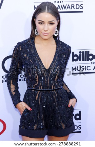 Olivia Culpo at the 2015 Billboard Music Awards held at the MGM Garden Arena in Las Vegas, USA on May 17, 2015.  - stock photo