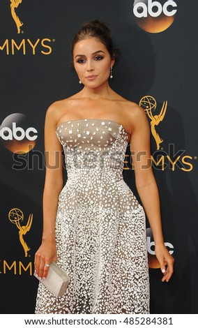 Olivia Culpo at the 68th Annual Primetime Emmy Awards held at the Microsoft Theater in Los Angeles, USA on September 18, 2016.