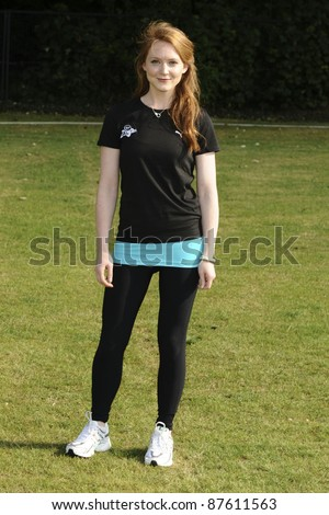 Olivia Hallinan at the launch of the Virgin Active London Triathlon celebrity team, Acton, London. 07/06/2011  Picture by: Steve Vas / Featureflash