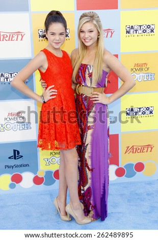 Olivia Holt and Bailee Madison at the Variety's 6th Annual Power Of Youth held at the Paramount Studios in Hollywood on September 15, 2012. - stock photo