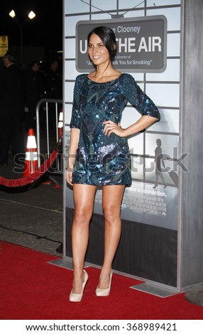 """Olivia Munn at the Los Angeles Premiere of """"Up In The Air"""" held at the Mann Village Theater in Westwood, California, United States on November 30, 2009.   - stock photo"""