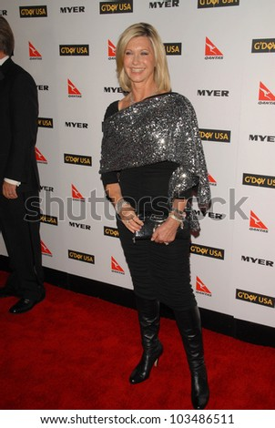Olivia Newton-John at the G'Day USA Australia Week 2010 Black Tie Gala, Kodak Theater, Hollywood, CA. 01-16-10 - stock photo