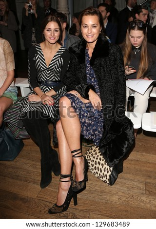 Olivia Palermo and Yasmin Le Bon at Matthew Williamson, part of London Fashion Week, A/W 2013, London, England. 17/02/2013 Picture by: Henry Harris - stock photo