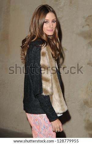 Olivia Palermo arrives at the Unique show as part of London Fashion Week AW13, Tate Modern, London. 17/02/2013 Picture by: Steve Vas - stock photo