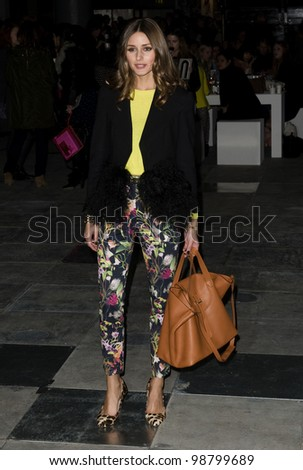 Olivia Palermo arriving for the Topshop / Unique AW 2012 show during London Fashion Week. 19/02/2012 Picture by: Simon Burchell / Featureflash - stock photo