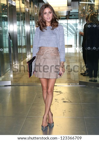 Olivia Palermo at the Matthew Williamson catwalk show as part of London Fashion Week SS13, Canon House, London.16/09/2012 Picture by: Henry Harris - stock photo