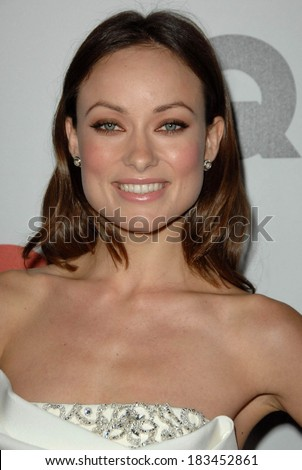 Olivia Wilde at Gentleman's Quarterly GQ Men of the Year Event, Chateau Marmont, Los Angeles, CA November 18, 2009  - stock photo