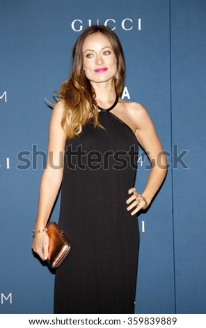 Olivia Wilde at the LACMA 2013 Art + Film Gala Honoring Martin Scorsese And David Hockney Presented By Gucci held at the LACMA in Los Angeles, USA on November 2, 2013.  - stock photo