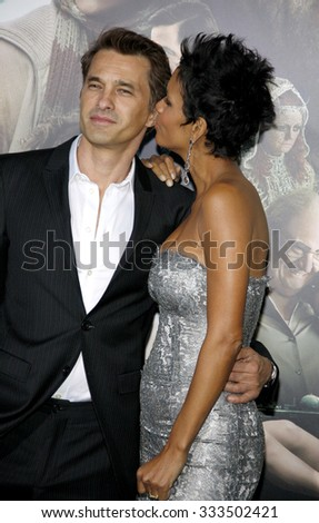 "Olivier Martinez and Halle Berry at the Los Angeles premiere of ""Cloud Atlas"" held at the ArcLight Cinemas in Los Angeles, USA October 24, 2012."
