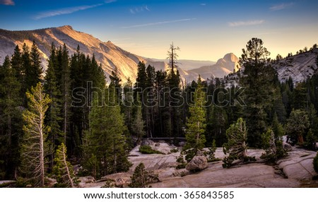 Olmsted Vista View, Yosemite National Park, California  - stock photo