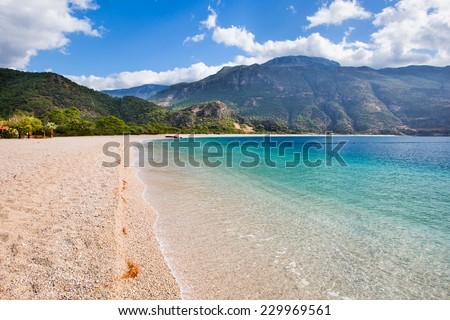 oludeniz landscape view of beach  - stock photo