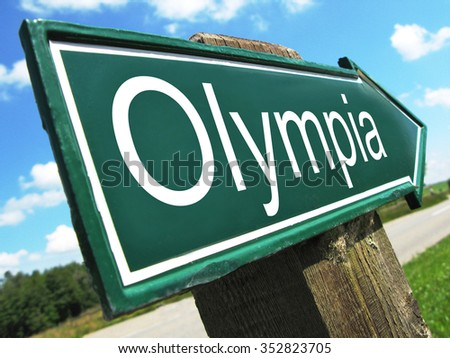 Olympia road sign
