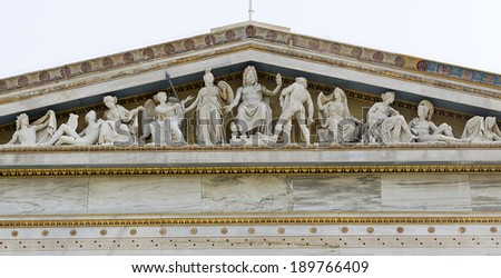 Olympian Gods from the Academy of Athens - stock photo