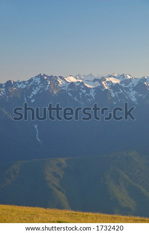Olympic Mountains in Washington State - stock photo