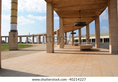 Olympic park. Barcelona, Spain, Montjuic hill - stock photo