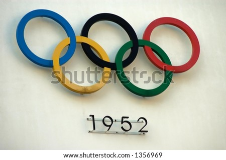 olympic rings - stock photo