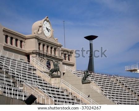 Olympic Stadium Barcelona - stock photo
