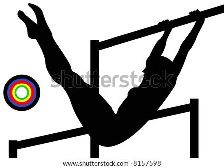 vault gymnastics silhouette. Olympics Gymnastics Uneven Bars Vault Silhouette D