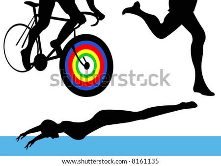 Olympics Triathlon Female - stock photo
