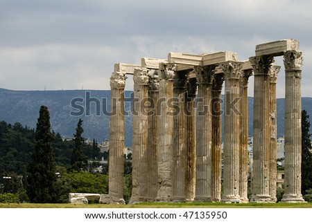 Olympieion, Temple of Olympian Zeus, Athens, Greece
