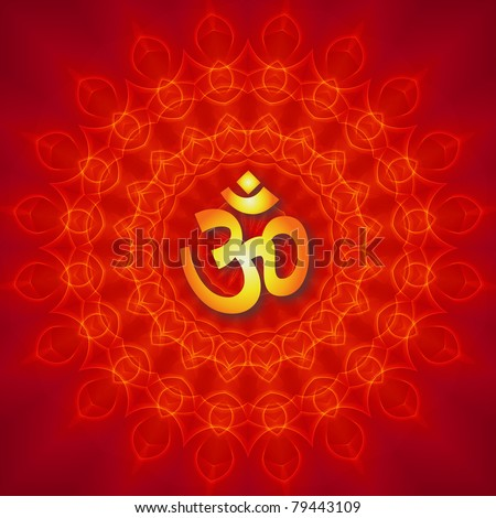 Om Mandala Design - stock photo