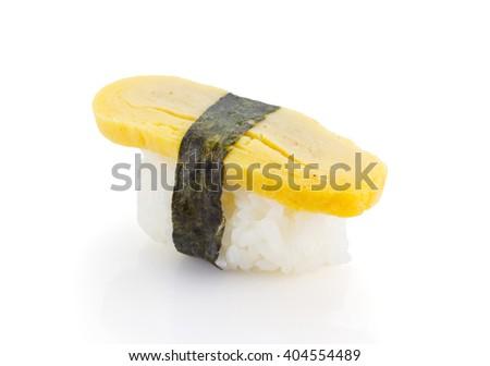 omago sushi nigiri isolated on white background - stock photo