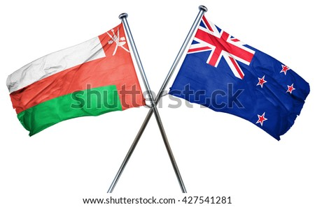 Oman flag  combined with new zealand flag