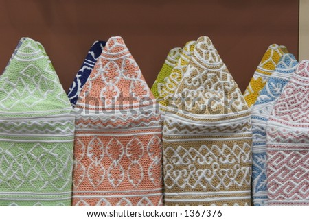 Omani hats - stock photo