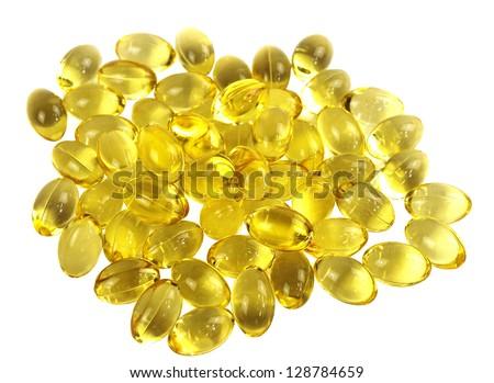 Omega-3 capsules - stock photo