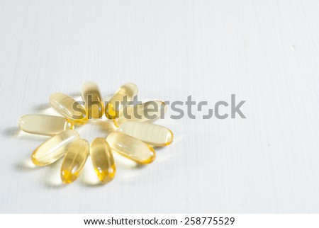 omega 3 capsules - stock photo