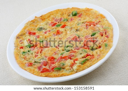 omelet with vegetables. - stock photo