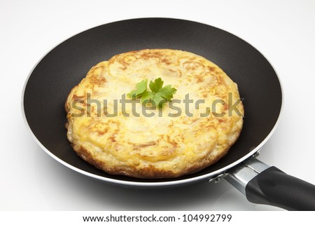 omelette cooked in a pan
