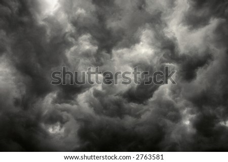 Ominous abstract storm clouds.