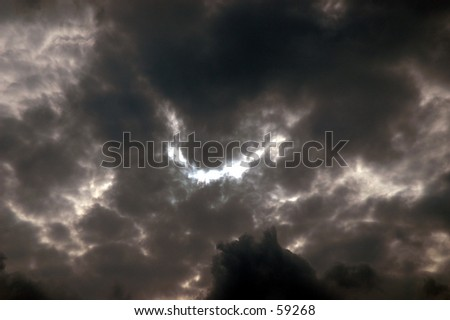 Ominous Clouds - stock photo